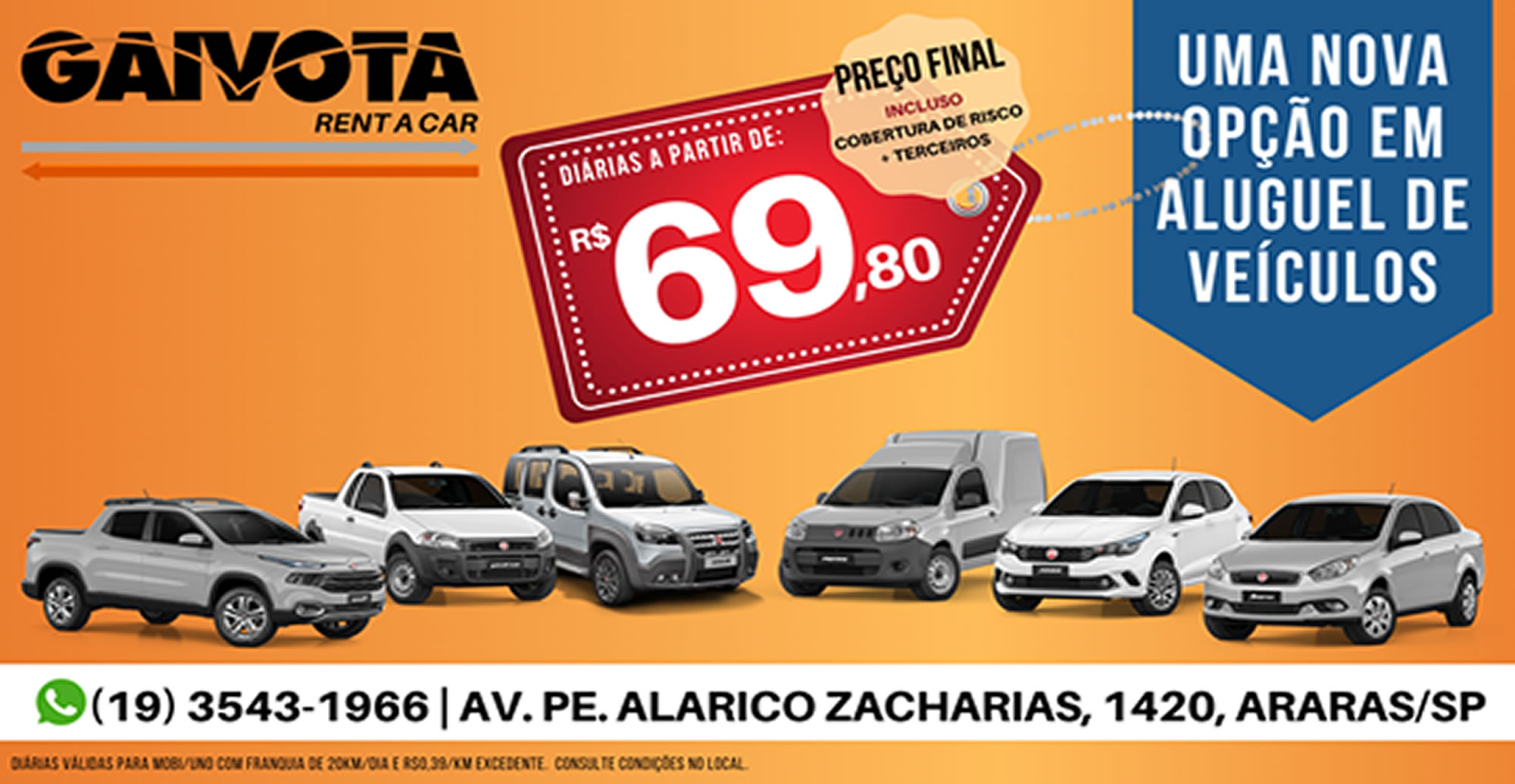 GAIVOTA RENT A CAR / Araras-SP